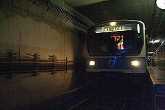 B-Wagen 570 als Partyzug in der Betriebsanlage Theresienwiese