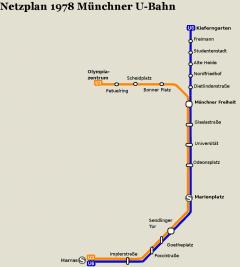 Netzplan Stand 31.12.1978