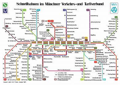 Schnellbahnnetzplan Oktober 1987