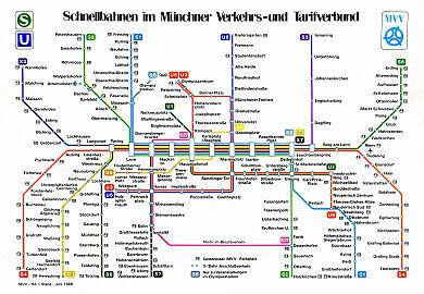 Schnellbahnnetzplan Juni 1988