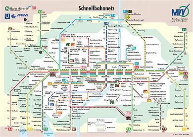 Schnellbahnnetzplan April 2004