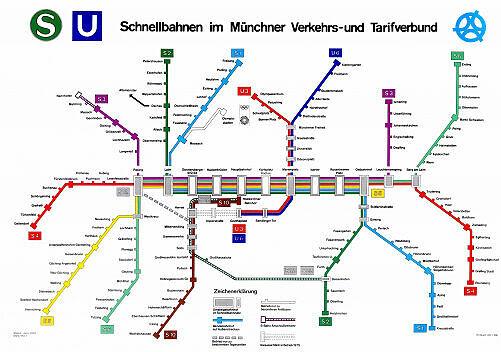 Schnellbahnnetzplan Juni 1974
