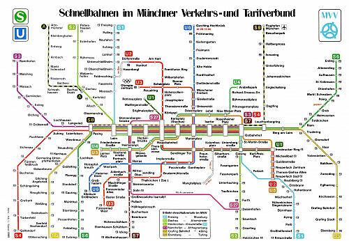 Schnellbahnnetzplan 1995