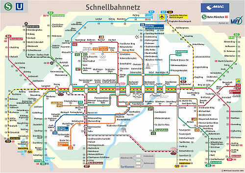 Schnellbahnnetzplan Dezember 2005