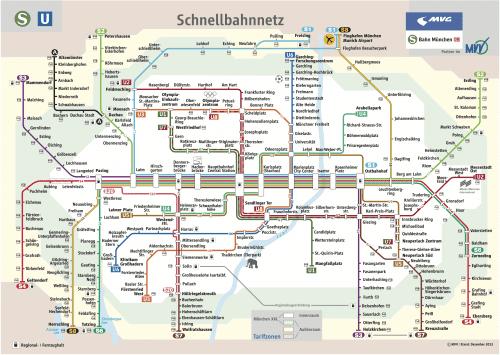 Schnellbahnnetzplan Dezember 2013
