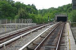 Tunneleingang der U5 in Neuperlach Süd