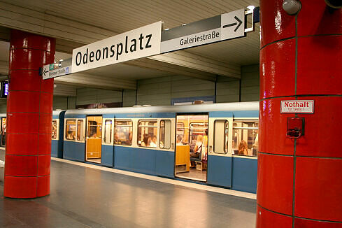 Odeonsplatz mit neuem Leitsystem