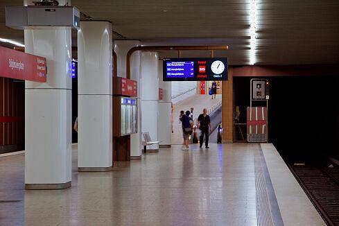 Östliche Zugangsrampe im U-Bahnhof Stiglmaierplatz