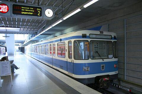 A-Wagen 104 in Nürnberg am Flughafen