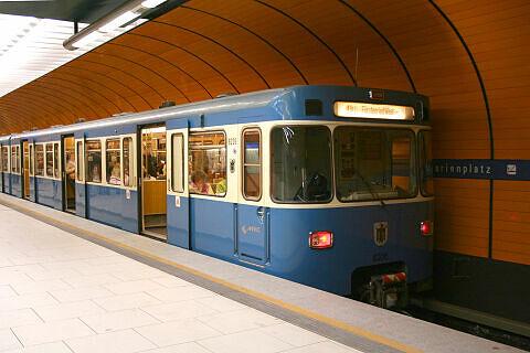 A-Wagen 206 am Marienplatz
