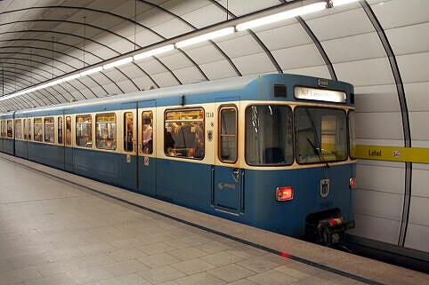A-Wagen 248 im U-Bahnhof Lehel