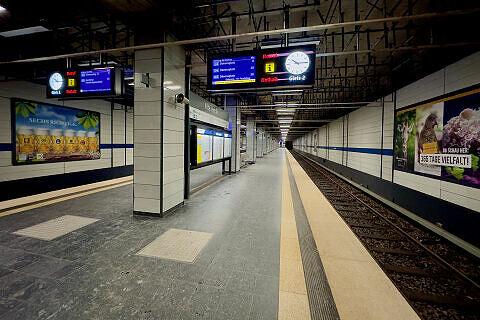 Alte Heide Gleis 2 mit ausfahrendem C-Zug