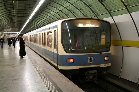 B-Wagen Prototyp 497 am Odeonsplatz