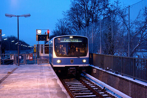 B-Wagen 570 als Partyzug am Kieferngarten