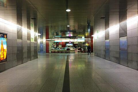 Sperrengeschoss im U-Bahnhof Georg-Brauchle-Ring