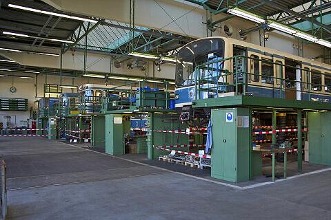 40 Jahre U-Bahn: Einblicke in die Hauptwerkstätte