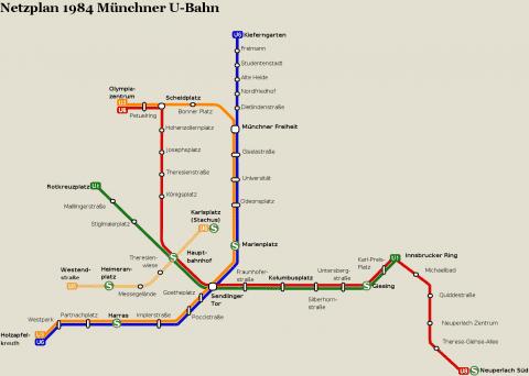 Netzplan Stand 31.12.1984