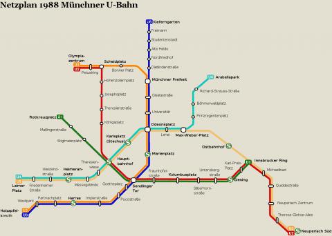 Netzplan Stand 31.12.1988