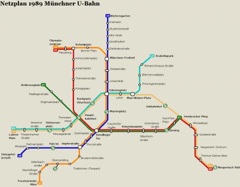 Netzplan Stand 31.12.1989