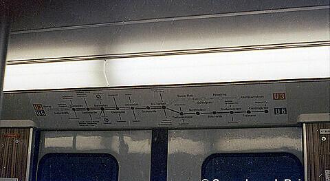 Netzplan der U-Bahn in den Zügen 1971
