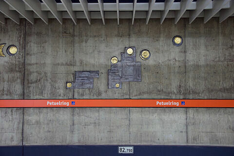 Wandrelief im U-Bahnhof Petuelring