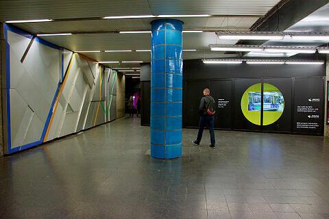 Sperrengeschoss am Sendlinger Tor vor dem Umbau