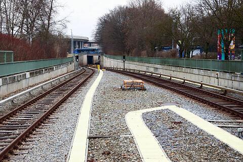 U6 zwischen Studentenstadt und Freimann