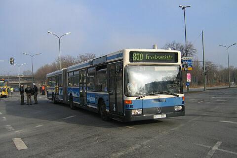 Unfall Studentenstadt - Schienenersatzverkehr