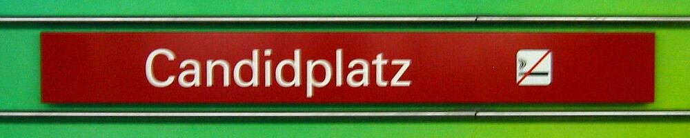 Stationsschild Candidplatz