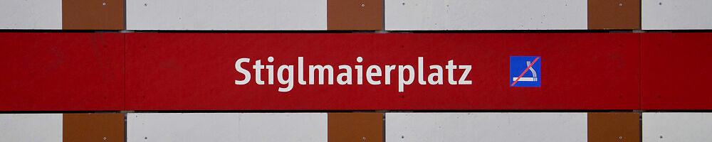 Stationsschild Stiglmaierplatz