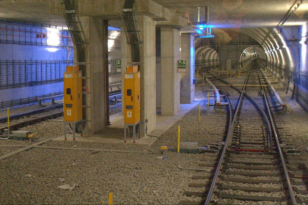 Gleiswechsel zwischen Oberwiesenfeld und Olympia-Einkaufszentrum